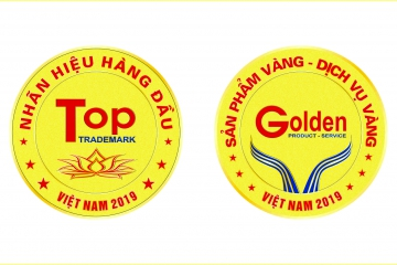 INTELLECTUAL PROPERTY VIETNAM GIVES A TITLE OF VIETNAM'S TOP BRAND NAME - GOLD PRODUCTS, VIETNAM GOLD SERVICE IN 2019 FOR CADIVI