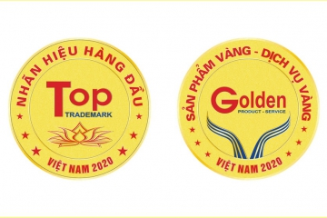 INTELLECTUAL PROPERTY VIETNAM GIVES A TITLE OF VIETNAM'S TOP BRAND NAME - GOLD PRODUCTS, VIETNAM GOLD SERVICE IN 2020 FOR CADIVI