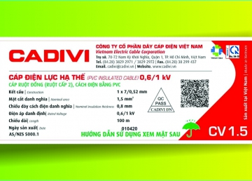 CADIVI ADJUSTED THE DESIGN ON CIVIL WIRE LABELS