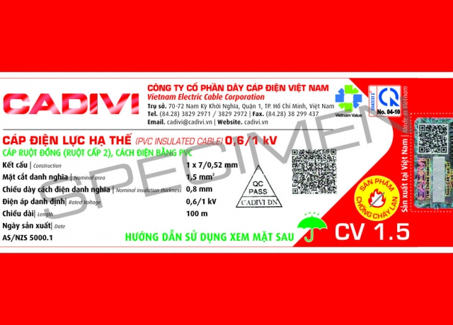 Design adjustment notice on civil wire labels