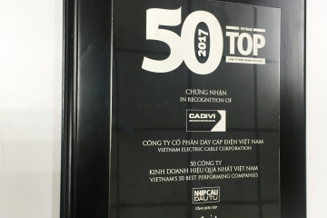 "CADIVI for the third time in a row is in the top ""50 most effective companies in Vietnam"" in 2017"