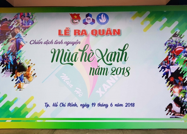 """CADIVI continuously being a companion for the voluntary campaign """"Mua He Xanh  2018"""" in Ben Tre Provice"""