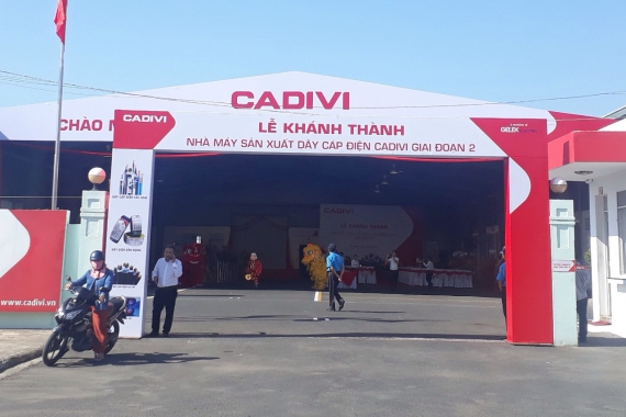 Inaugurated the CADIVI factory in Central Vietnam, phase 2