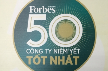 """CADIVI CONTINUED WON ON THE LIST """"50 BEST LISTED COMPANY VIETNAM"""" ELECTED BY FORBES VIETNAM"""