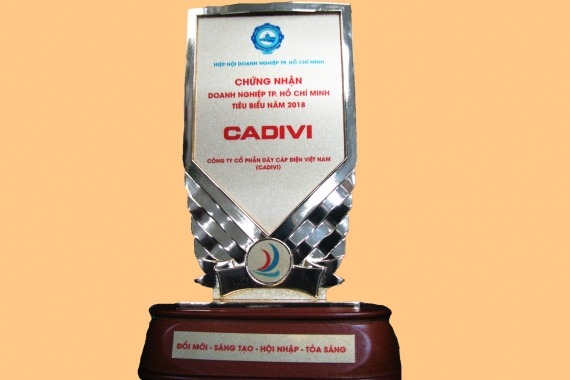 "Awarded the ""Typical HCM City 2018"" for CADIVI"