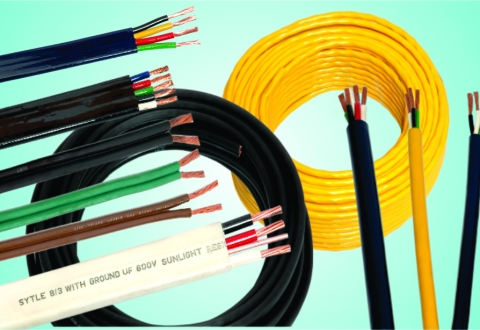 Pump cable with ground